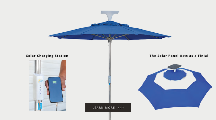 Texacraft Wattsun Umbrella with Solar Power USB Charging