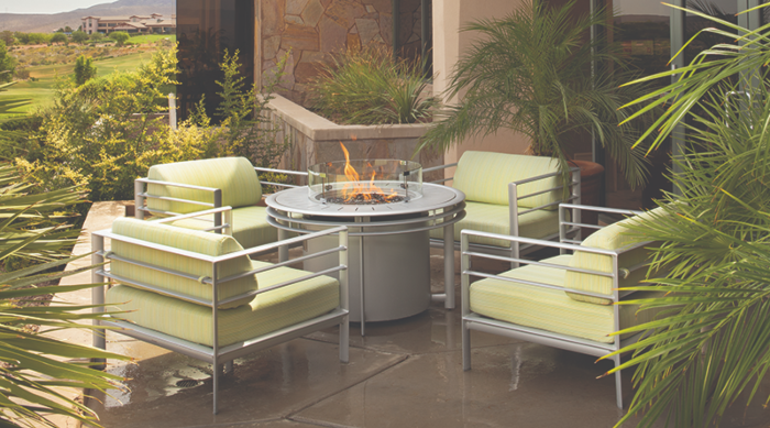 Texacraft's Southern Cay seating with firepit at a condo